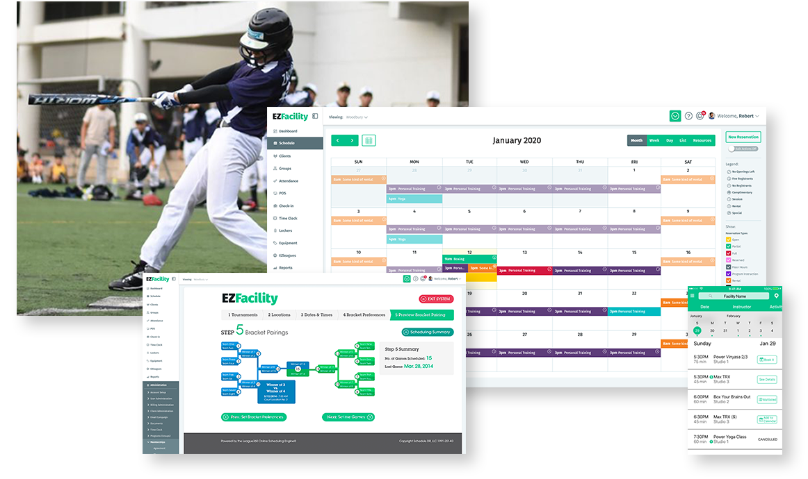 Baseball Facility Management Software by EZFacility