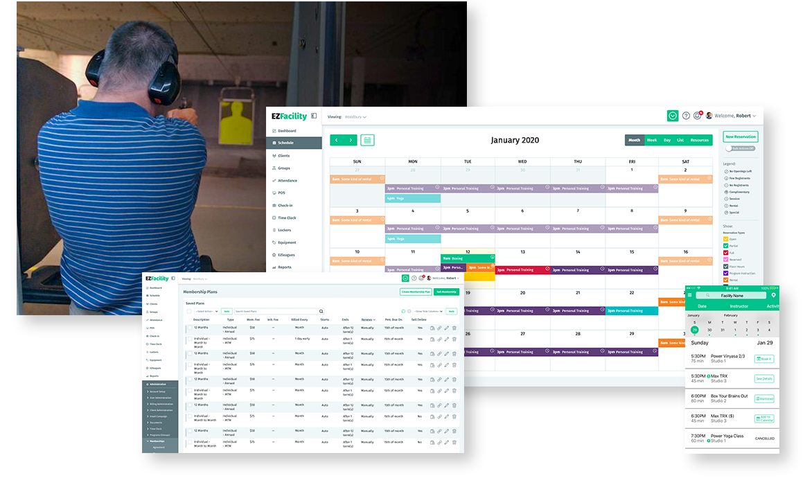 Shooting Range and Gun Club Management Software by EZFacility