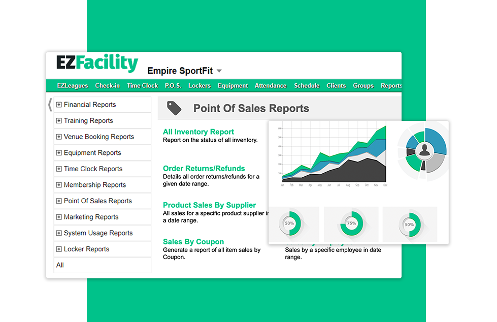 Point of Sale Reports from EZFacility